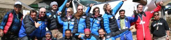 Bekannte Gesichter aus der Springerszene am Mount Everest Foto: Everest-Skydive