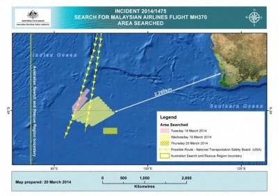 Suche westlich von Australien (Graphics: AMSA)