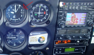 Höhenmesser in einer Cessna 172