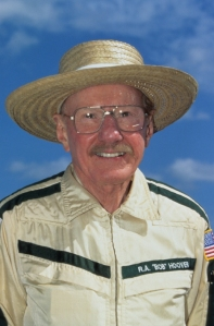 Bob Hoover w hat 1990s low res