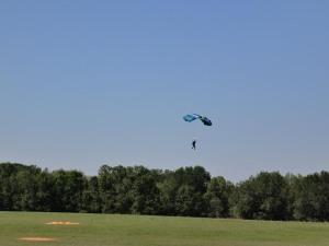Fallschirmlandung
