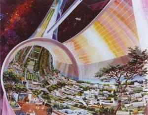 Stanford Torus Cutaway view, exposing the interior. (c) NASA ID NUMBER AC75-1086-1.